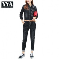 Denim Overalls Womens Jean Jumpsuits Long Pants Washed Jeans Denim Casual Rompers Female Slim Fit Bf Style Fashion Plus Size XXL