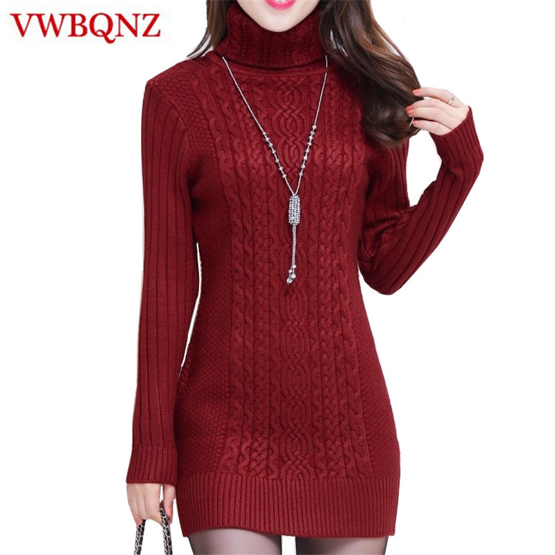 Autumn Winter New Women Turtleneck Warm Sweaters Slim Thick Female Sweater Knitted Slim Pullover Ladies Casual Shirt Clothing