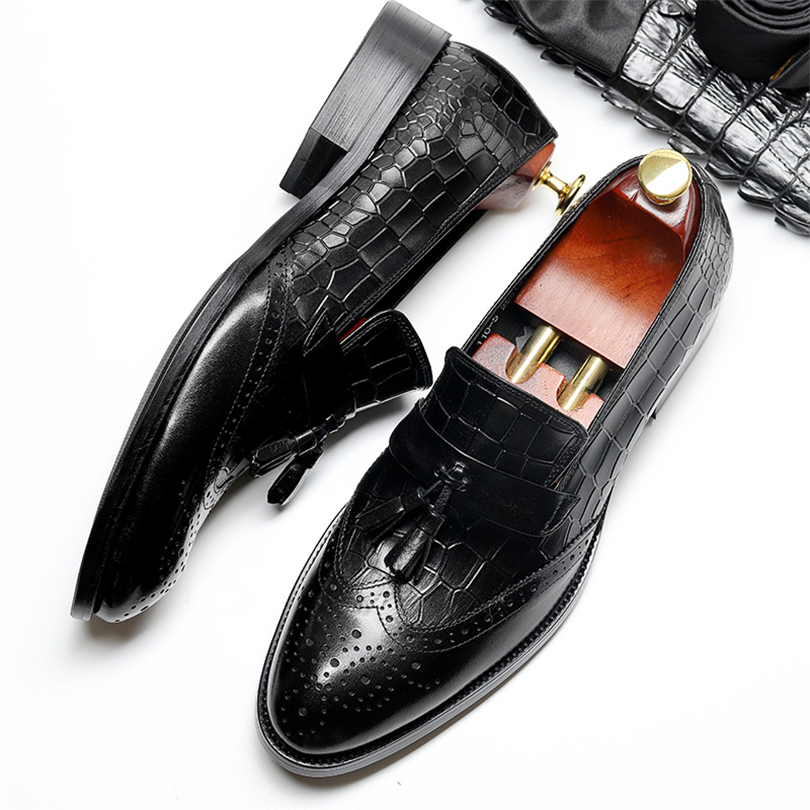Men fashion tassel party shoes mens genuine leather comfortable brand Italian male formal slip on wedding shoes Phenkang контроллер sas hp 12gb sas expander card 9p msas sff8087 2p to controllers 7p to drive cage full cables kit 727250 b21 727250 b21