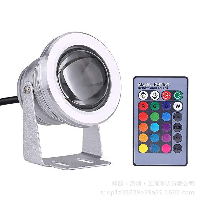 Hearty Ac/dc 12v Remote Control Rgb Led Underwater Light Fountain 10w Seven-color Swimming Pool Lamp Ip68 Fishbowl Lighting Spotlight Lights & Lighting Led Lamps