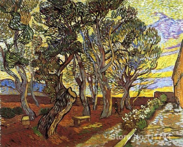 US $83.46 22% di SCONTO|Famosa arte per la camera da letto Giardino Di  Saint Paul Ospedale Vincent Van Gogh dipinti dipinto A Mano di Alta qualità  in ...