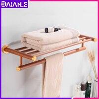 Bad Handtuch Rack Hängen Halter Wand Montiert Holz Aluminium Handtuch Halter Einzel Handtuch Bar Wc Waschraum Dusche Lagerung Regal-in Handtuchhalter aus Heimwerkerbedarf bei