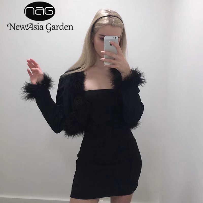 Newasia jardim duplo em camadas de algodão bodycon vestido sexy vestido de verão tanque sem mangas vestido de festa clube bandagem vestidos