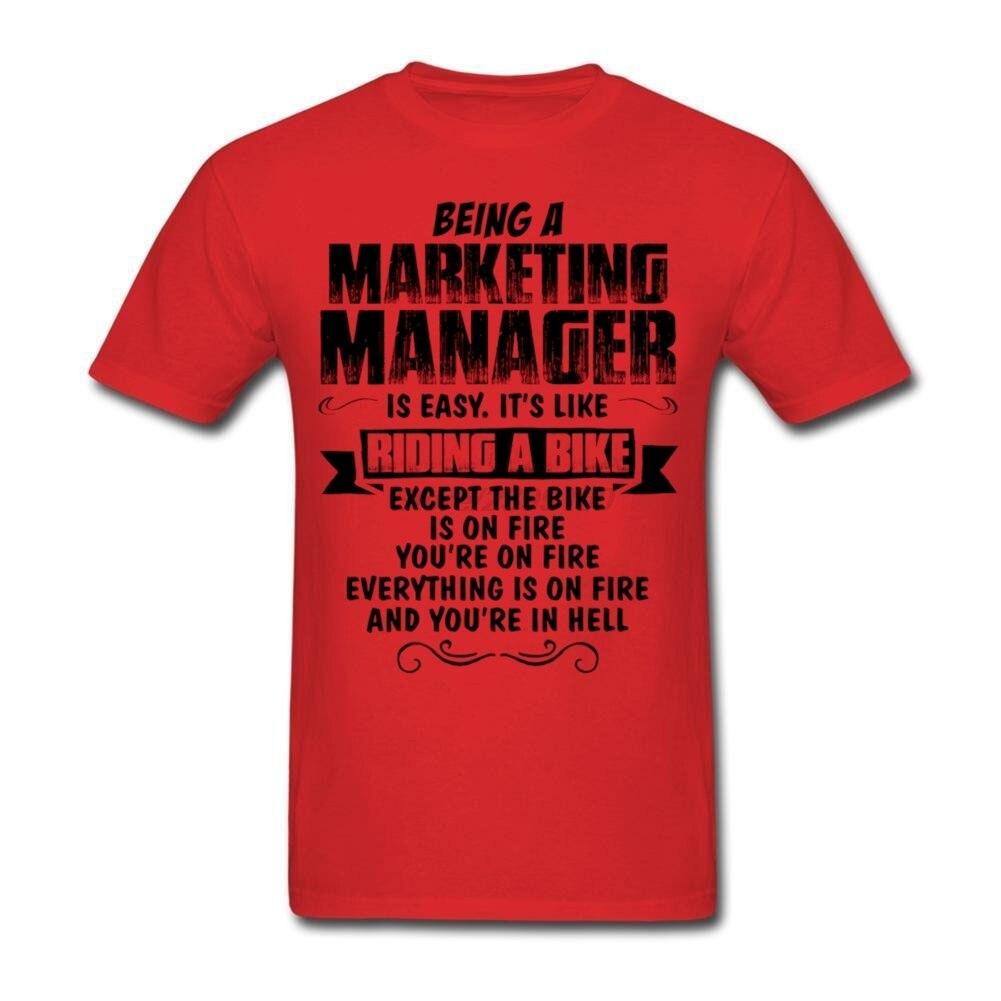 Custom Short Sleeve Valentine s Being A Marketing Manager T shirt Men s font b Geek
