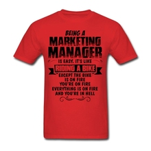 Custom Short Sleeve Valentine's Being A Marketing Manager T-shirt Men's Geek XXXL Couple T-shirts