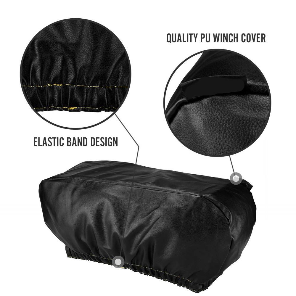 Dust-Proof,UV Resistant Winch Protective Cover with Elastic Band for Electric Winches Winch Cover Waterproof