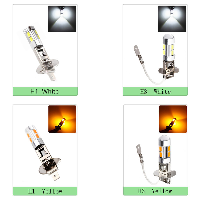 led car light Fog led high power lamp - H3 H1 5630 smd Auto car led bulbs Car Light Source parking 12V 6000K Headlight 1pcs h1 led good 80w white car fog lights daytime running bulb auto lamp vehicles h1 led high power parking car light source