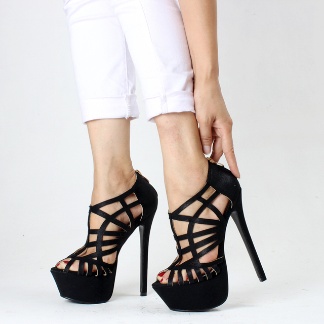Aliexpress.com : Buy New Summer Women Sandal Cut Outs Super High