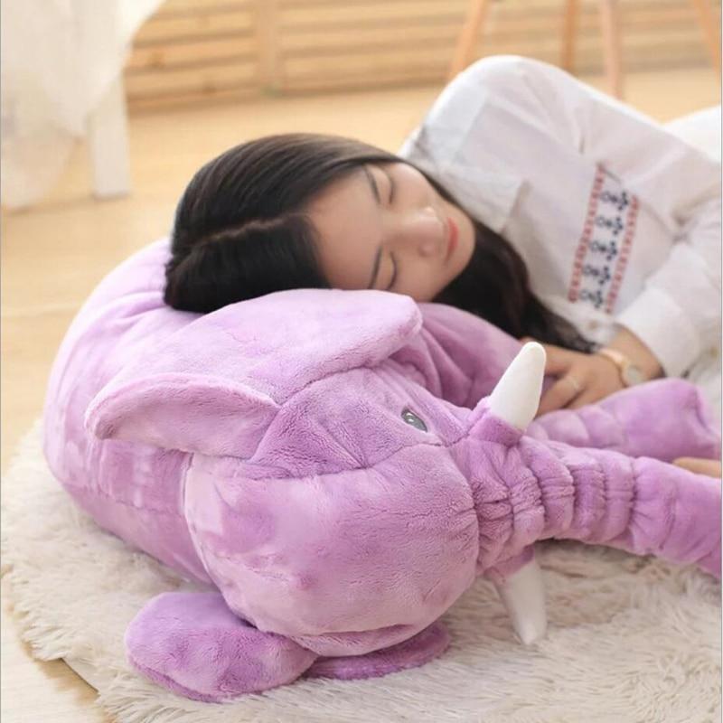 65 cm de altura grande felpa elefante muñeca juguete niños - Peluches y felpa - foto 2