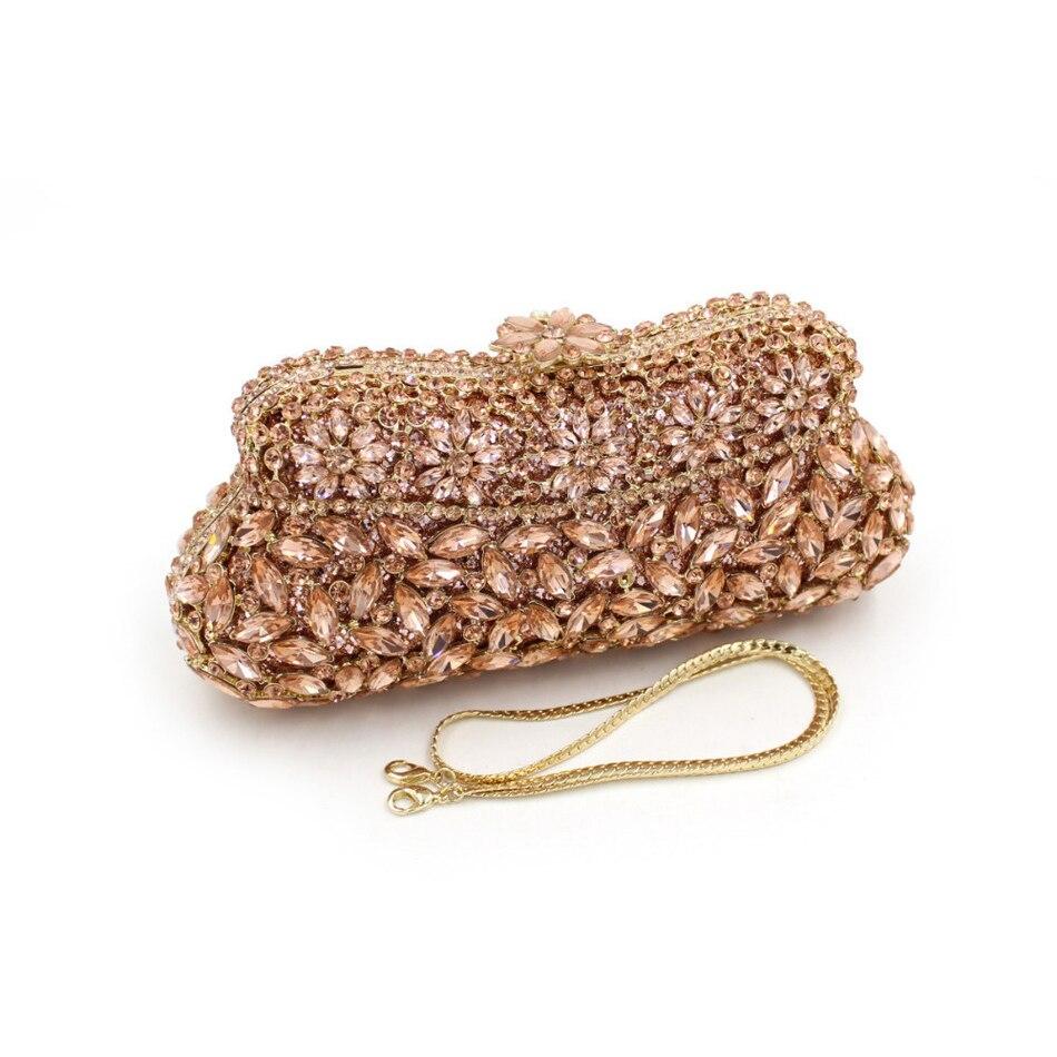ФОТО New Women Luxury Crystal Evening Bag Female Wedding Party Clutch Handbag Mini Diamonds Gold Silver Green Blue