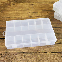 Plastic 13 Grids Jewelry Box Tool Box Case Craft Organizer Carrying Cases Storage Beads Boxes DIY