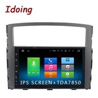 Idoing 1Din 9Android 6.0/8.0 Car Radio Fit MITSUBISHI PAJERO V97 V93 2006 2011 32G ROM GPS Aoto Audio Multimedia Player 8 Core