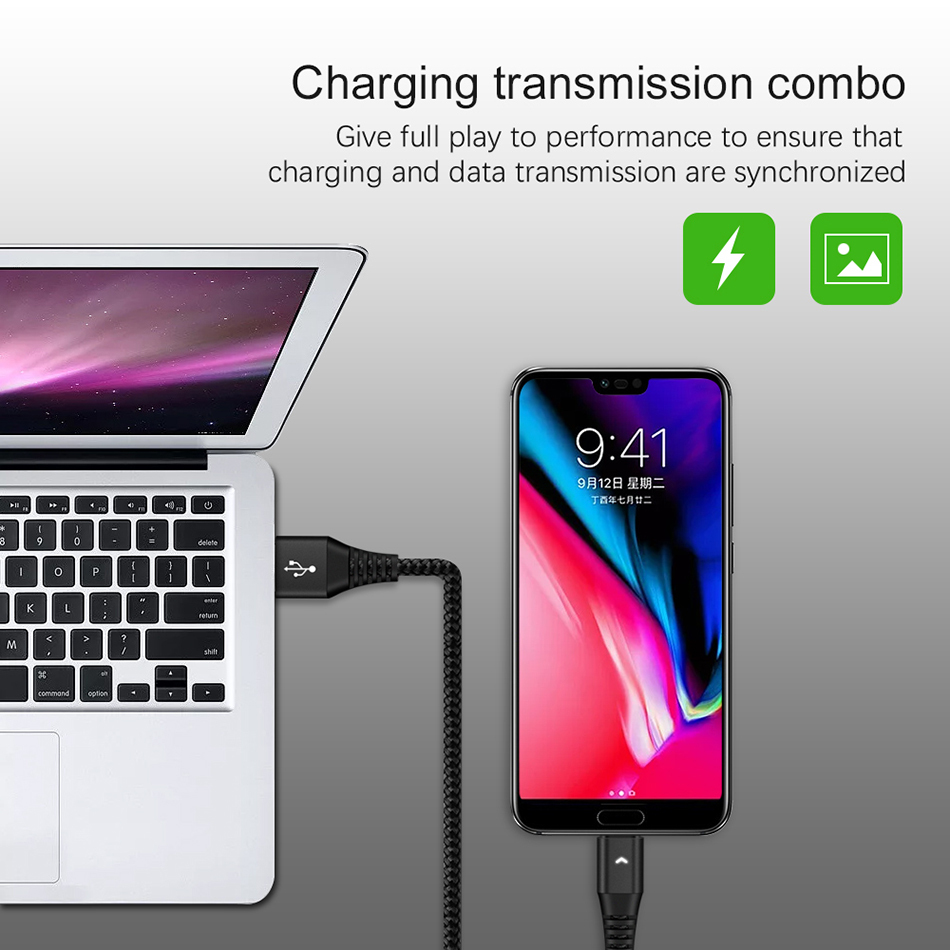 KSTUCNE Micro USB Cable 2A Fast Charging Data Wire Cord Microusb Charger Cable For Samsung S7 Xiaomi Android Mobile Phone Cables in Mobile Phone Chargers from Cellphones Telecommunications