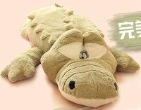 Super Cute 1pc 65cm Cartoon Little Green Crocodile Plush Hold Doll Home Decoration Stuffed Toy Children