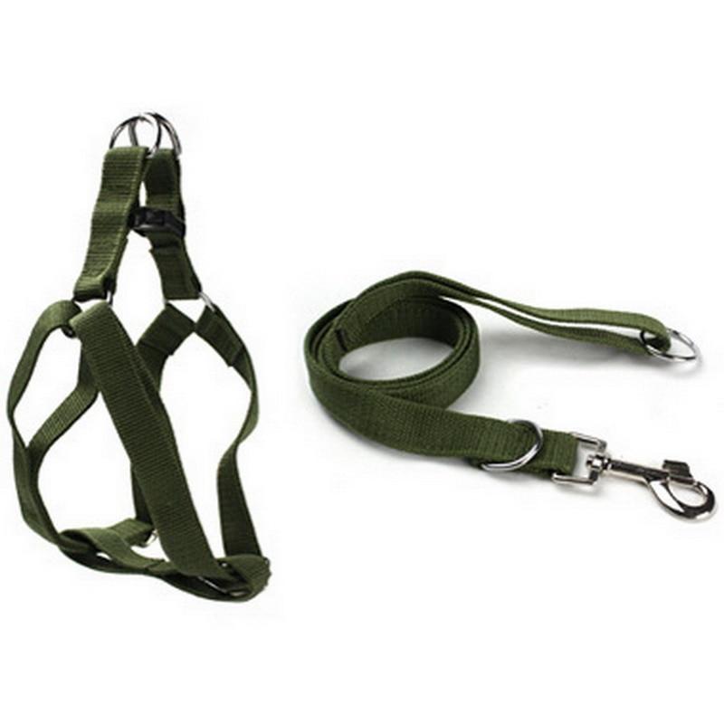 Pet Harness Nylon Adjustable Safety Control Restraint Cat Puppy Dog Harness Soft Walk Vest Large Dog