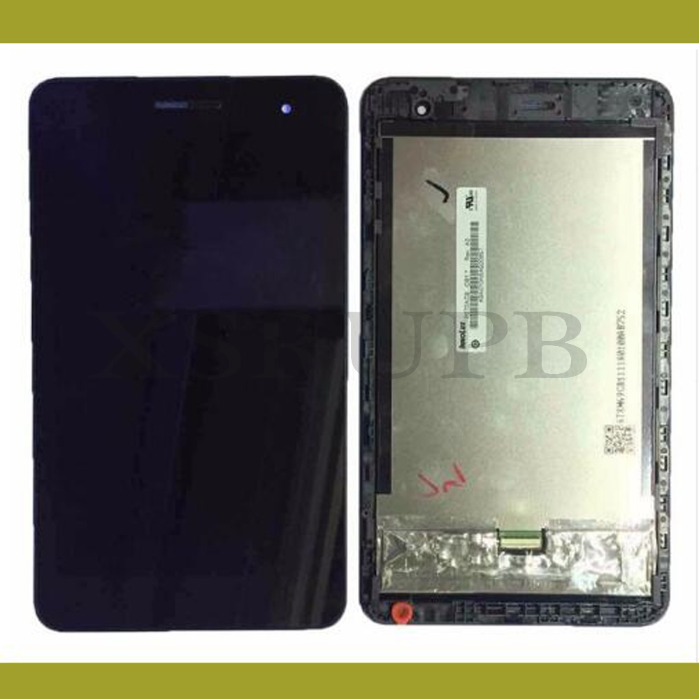 For Huawei Honor Play Mediapad T1-701 T1 701W T1-701W Touch Screen Digitizer Glass Sensor + frame LCD Display Panel Assembly  touch screen glass panel for agp3500 sr1 agp3500 t1 af agp3501 t1 d24