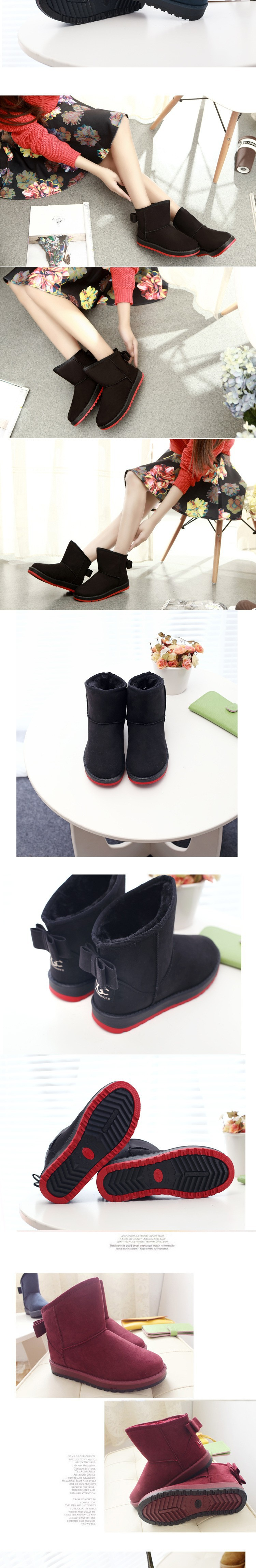 2015 Brand Women Winter Snow Boots Fashion Fur Boots high heels women Boots Shoes High Increased botas Mujer New Arrival B14 (4)