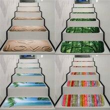 Peldaños antideslizantes lavables para escalera alfombra de escalera tapetes para escalera a prueba de suciedad respaldo de goma alfombras de escaleras para el hogar y la Oficina