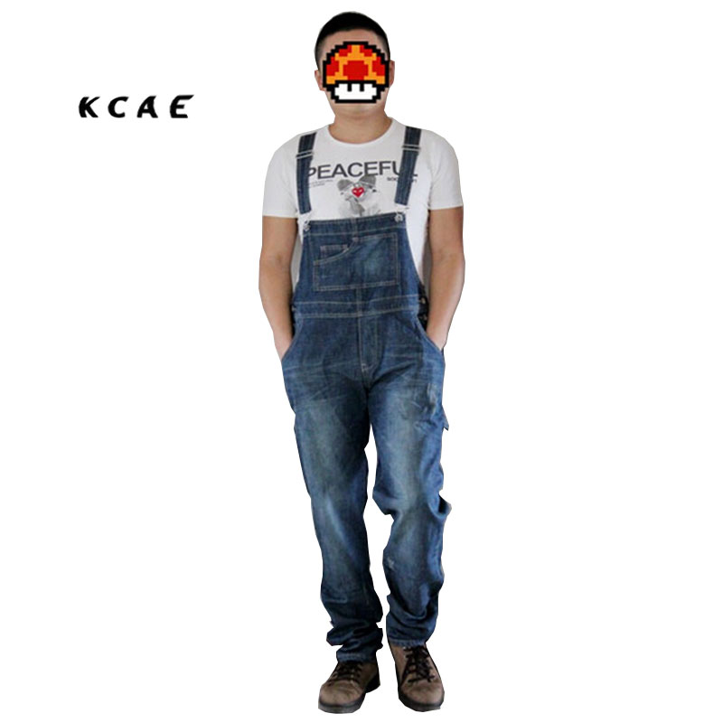 Men jumpsuits Jeans plus size XS-4XL overalls Men Large size Jeans huge denim bib pants Fashion pocket jumpsuits Male male suspenders 2016 new casual denim overalls blue ripped jeans pockets men s bib jeans boyfriend jeans jumpsuits