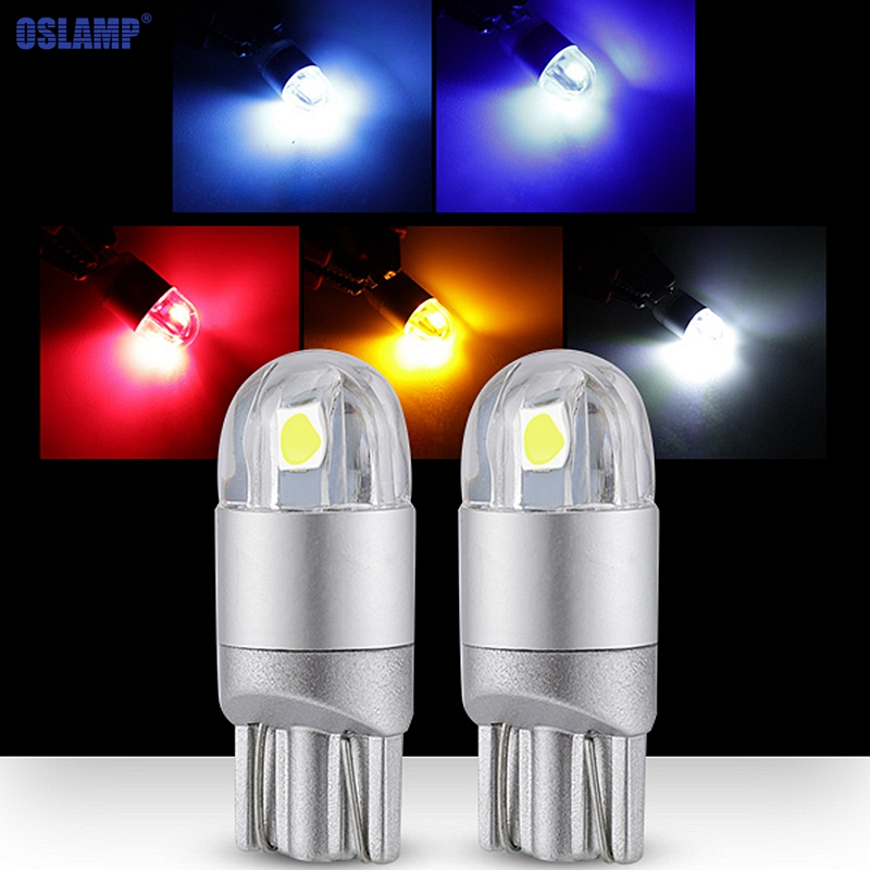 2pcs Red T10 921 194 Car Interior License Plate LED Light Bulbs Wedge Side Lamp
