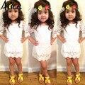 2015 Nuevas Muchachas de la llegada atan el vestido partido de la manera vestido de princesa vestido de los niños ropa de bebé envío gratis