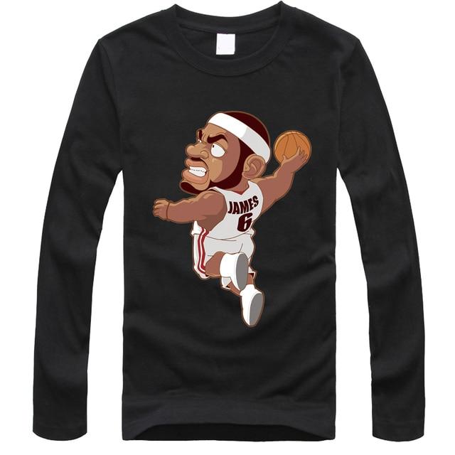 2016 lebron james t shirts dunk a basketball sport cartoon