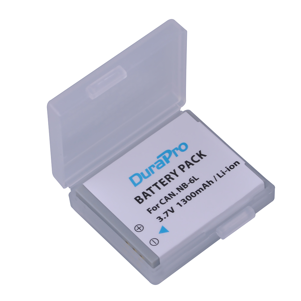 1pc NB-6L NB 6L 6LH NB-6LH 1300mAh Rechargeable Li-ion Battery For CANON PowerShot SX240 SX260 HS IXY110 SD980 Camera Battery dste nb 2l14 battery dc18 charger for canon mvx300 mvx30i 330i zr100 camera