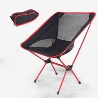 Kırmızı Taşınabilir Alüminyum Alaşım Koltuk Katlanır Sandalye Açık Kamp Koltuk Piknik Plaj Balıkçılık Sandalyeler Yürüyüş Kılıfı Sandalye H195-1