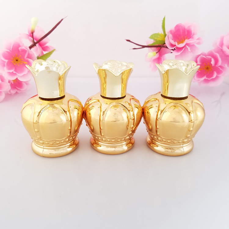 20Pcs Court Style Gold Color Glass Perfume Bottle Glass Essential Oil Bottle Tattoo Tools Glass Aromatherapy