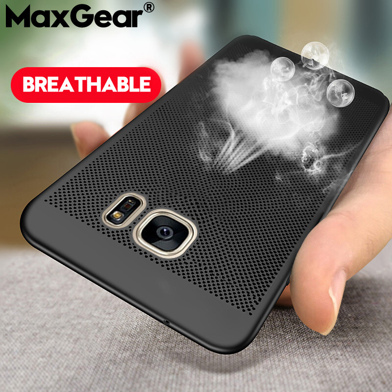 Phone-Case Coque Heat-Dissipation Cooling Plastic Samsung Galaxy A8 Plus Shell-Cover