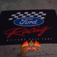 Ford гоночный автомобиль команды флаг, Форд автомобиль Клуб Баннер, 90*150 см из полиэстера flagking Марка флаг