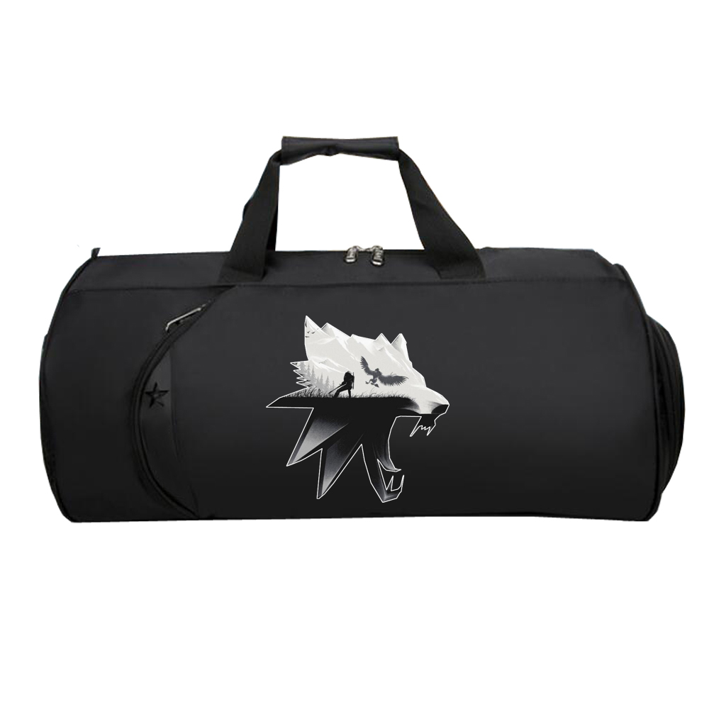 Men Travel Luggage Bags Large Teenagers Capacity Duffle Travel Bags Luggage Handbag For Anime The Witcher