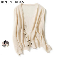 Spring And Summer Knitted Cardigan Short Thin Coat Women Long Sleeved Solid Color Sweater Cardigan Casual Knitwear