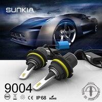 SUNKIA 9004 HB1 9007 HB5 Hi Lo Beam Plug Play Built In Fan Car LED Headlight
