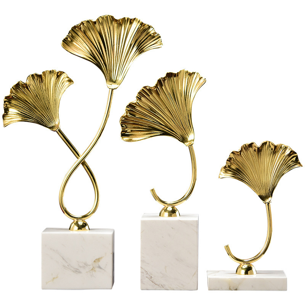 art deco design leaf table deo modern copper home decoration gold crafts and gifts