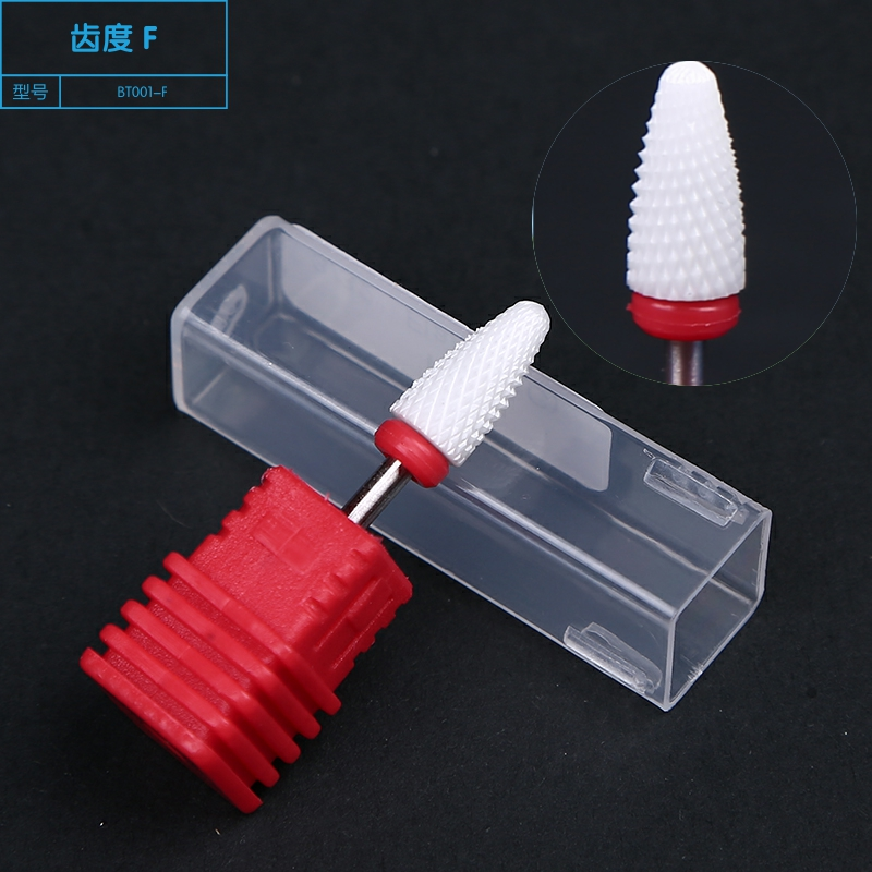1pc 6 type Ceramic Nail Drill Bit 3 32 quot Bullet Ceramic Nail Drill Bit Rotary Burrs Ceramic Nail Drill Bits for Gel Removal Burr in Nail Art Equipment from Beauty amp Health