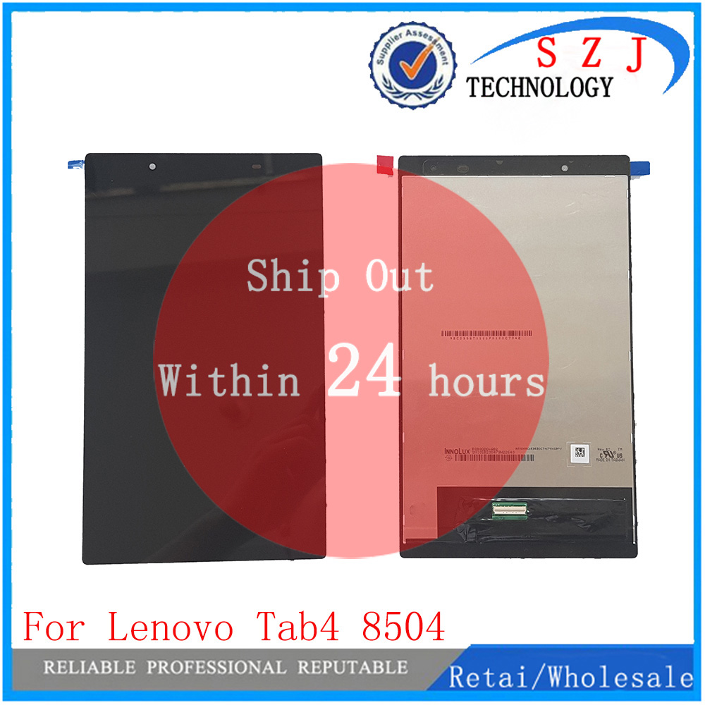 New LCD Screen Display Assembly For Lenovo Tab4 8 / 8504 / TB-8504F / TB-8504X Touch Screen Digitizer Assembly genuine new for apple imac 21 5 a1418 2k lcd screen display assembly 1920x1080 2012 2015 lm215wf3 sd d1 d2 d3 d4 d5