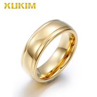 TSR202 Xukim Jewelry stainless steel rings gold wedding women ring newTungsten men ring