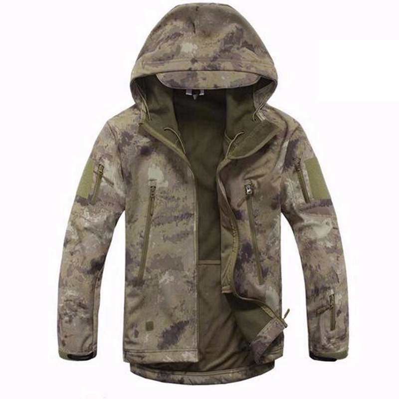 A-TACS AU FG Camouflage Real Tree Camo Tactical TAD Jacket Outdoor Hunting Waterproof Windproof Men Jacket for Fishing Hiking