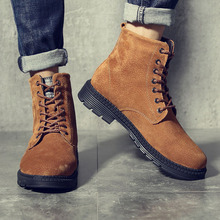 a86259a9 38 ~ 47 moda ocio Martin botas hombres calzado de cuero cómodos zapatos  masculinos adultos