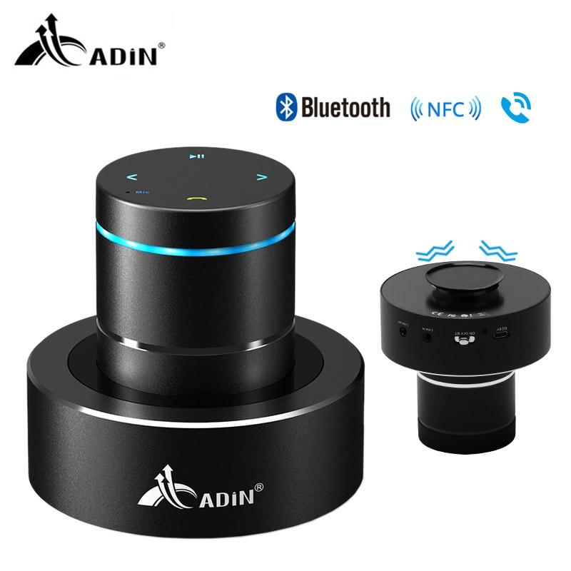 Adin 26 Вт беспроводной Bluetooth динамик NFC бас аудио Вибрационный динамик сенсорный сабвуфер Hands Free с микрофоном Bluetooth 4,0