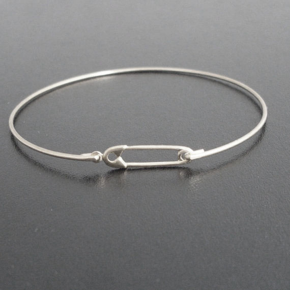 Safety Pin Bracelet Bangles Simple Jewelry Gold / Silver Color Available 2018 Newest YP2418