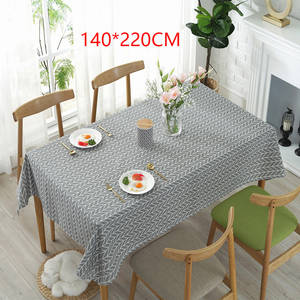 HOUSEEN Table Cover Tablecloth Dinning Decor Gray