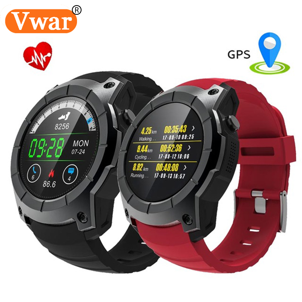 Vwar GPS Sports Watch S958 MTK2503 Heart Rate Monitor Smartwatch Support SIM multi-sport model smart watch for Android IOS G05 2017 new gps smart watch sport waterproof heart rate monitor dial call 2g sim card all compatible smartwatch for android ios