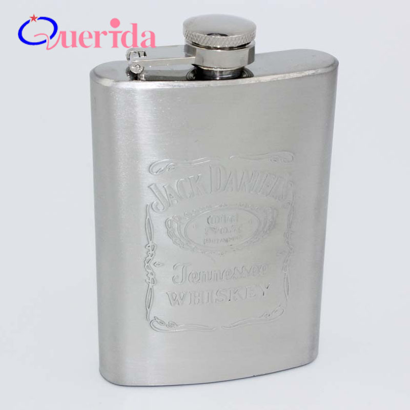 Fashion Leak Proof Portable Stainless Steel 4oz Pocket Hip Flask Alcohol Whiskey Liquor Screw Cap Drink Outdoor Camping Bottle