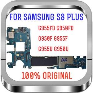 Image 2 - Suporte 4g lte 64gb original para samsung galaxy s8 g950f g950u g950fd g955f g955u g955fd placa mãe europa versão placa lógica