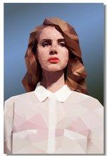 54d1a605024a9 Custom Canvas Wall Decor Lana Del Rey Poster Lana Del Rey Wall Painting POP  Music Singer Sticker Mural Abstract Wallpaper  0281