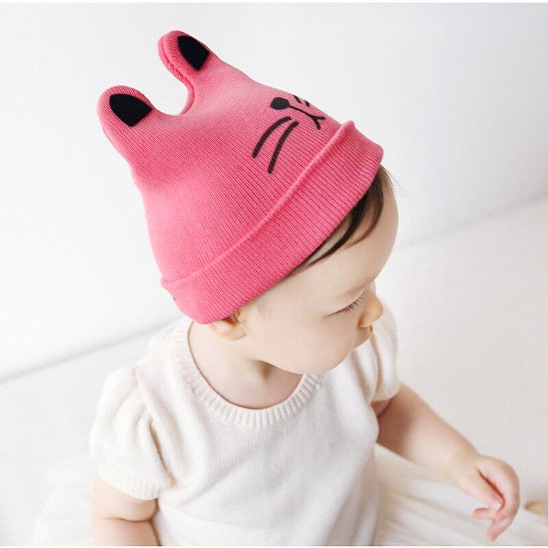 Mode 0-24 maanden Warm kind kat oren gebreide muts baby wol hoed (6 - Babykleding - Foto 5