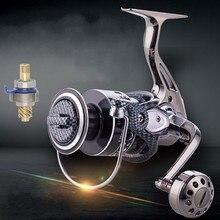 купить Battlesea 12000 molinete 13+1BB Feeder Carretilha de pesca Stainless steel Fishing Reel shot Casting carp salt Spinning Reels по цене 1215.41 рублей