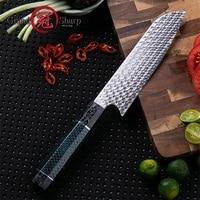 Handmade Kitchen Knife 110 Layers Damascus Steel Premium Santoku Utility Kitchen Knives Japanese Style Knife Gift Box Grandsharp